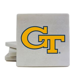Georgia Tech Yellow Jackets 4-Piece Marble Coaster Set