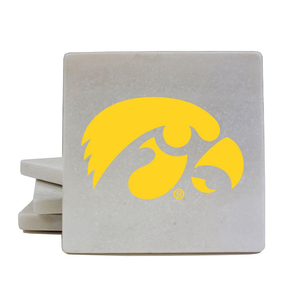 Iowa Hawkeyes 4-Piece Marble Coaster Set