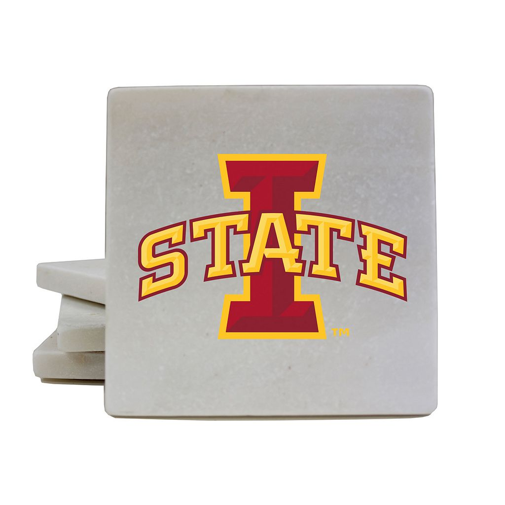 Iowa State Cyclones 4-Piece Marble Coaster Set