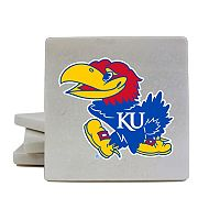 Kansas Jayhawks 4 pc Marble Coaster Set