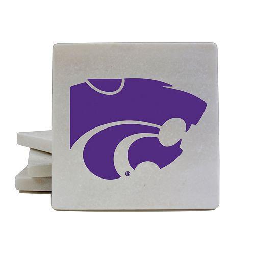 Kansas State Wildcats 4-Piece Marble Coaster Set