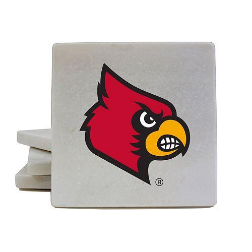 Louisville Cardinals 4-Piece Marble Coaster Set