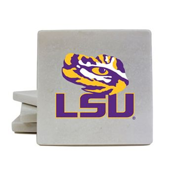 LSU Tigers 4-Piece Marble Coaster Set