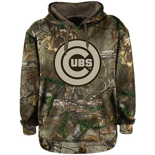 outlet store sale 25f7c 5240f Men's Chicago Cubs Real Tree Camouflage Pullover Hoodie