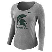 Women's Nike Michigan State Spartans Logo Tee