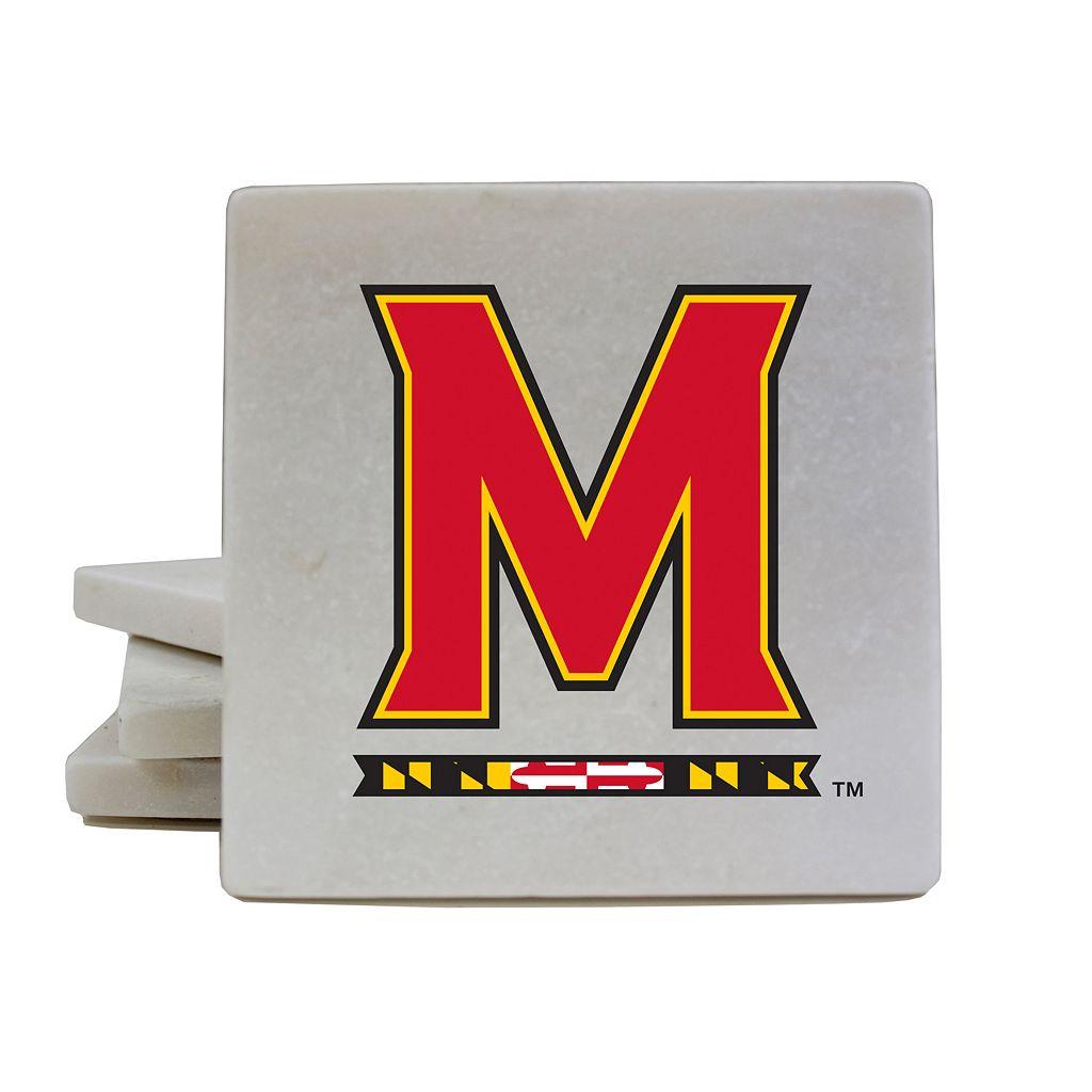 Maryland Terrapins 4-Piece Marble Coaster Set