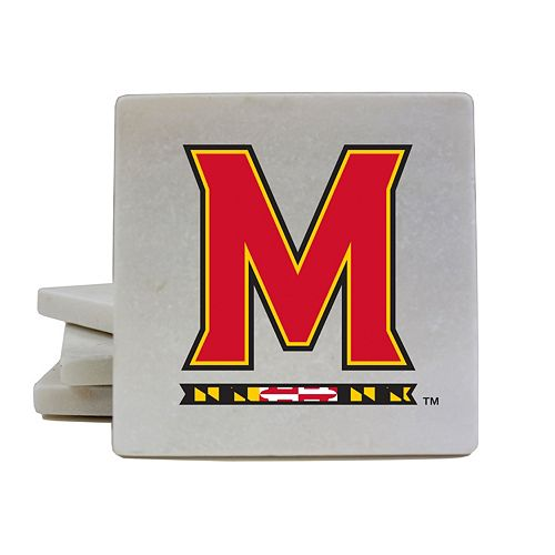 Maryland Terrapins 4-Piece Marble Coaster Set