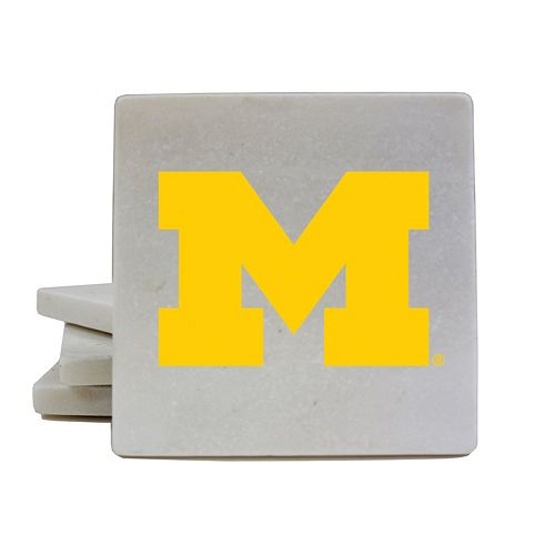 Michigan Wolverines 4-Piece Marble Coaster Set