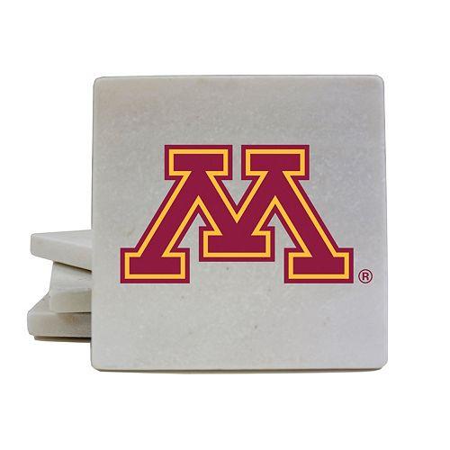 Minnesota Golden Gophers 4-Piece Marble Coaster Set