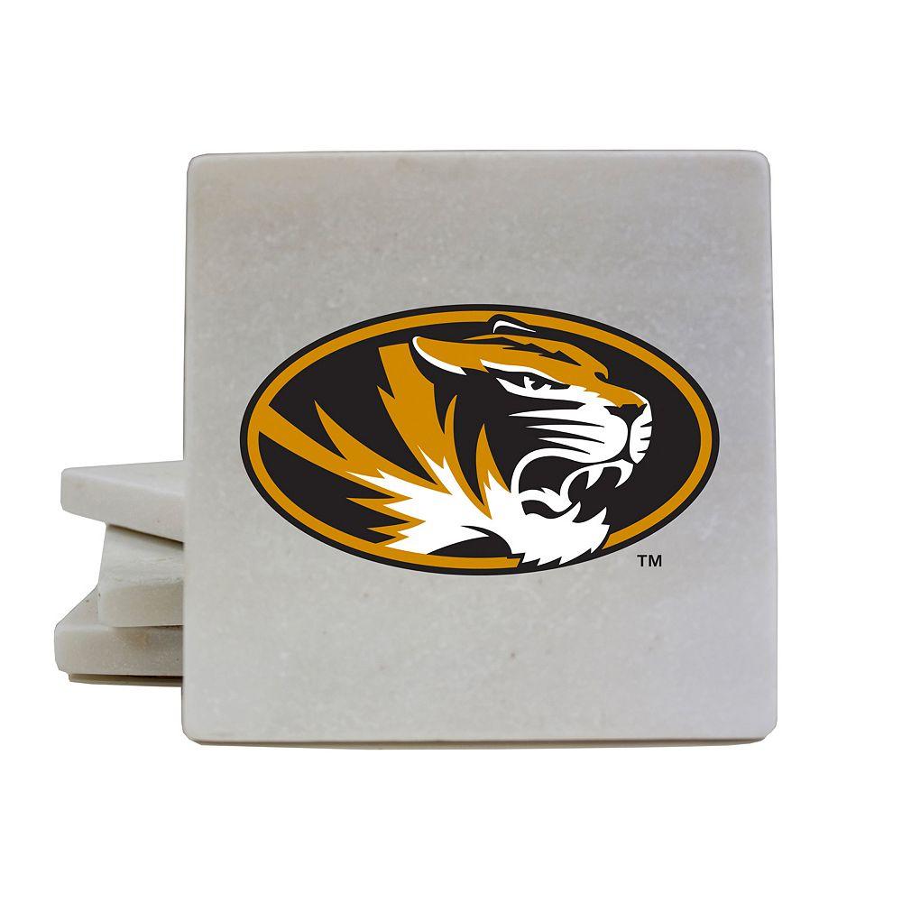 Missouri Tigers 4-Piece Marble Coaster Set