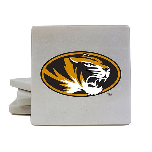 Missouri Tigers 4-Piece Marble Coaster Set