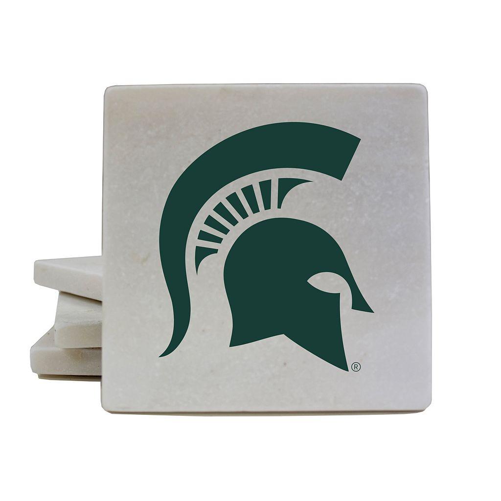 Michigan State Spartans 4-Piece Marble Coaster Set