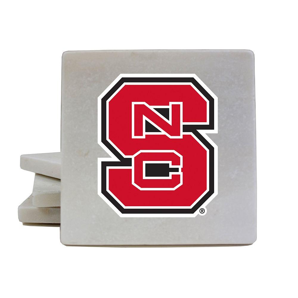 North Carolina State Wolfpack 4-Piece Marble Coaster Set