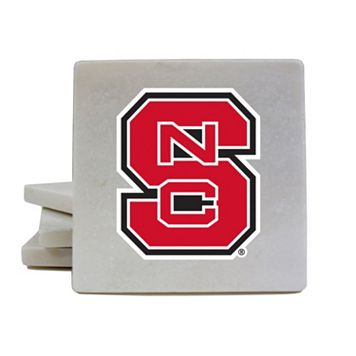 North Carolina State Wolfpack 4-Piece Marble Coaster Set