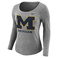 Women's Nike Michigan Wolverines Logo Tee