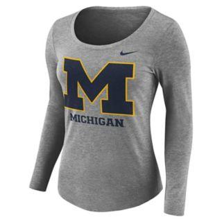 Women's Nike Michigan Wolverines Logo Tee