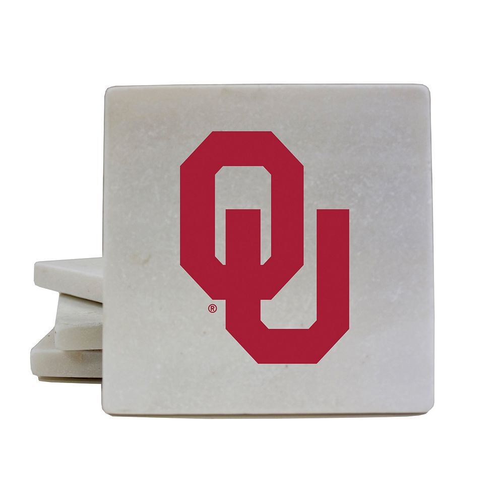 Oklahoma Sooners 4-Piece Marble Coaster Set