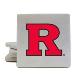 Rutgers Scarlet Knights 4-Piece Marble Coaster Set