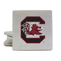 South Carolina Gamecocks 4-Piece Marble Coaster Set
