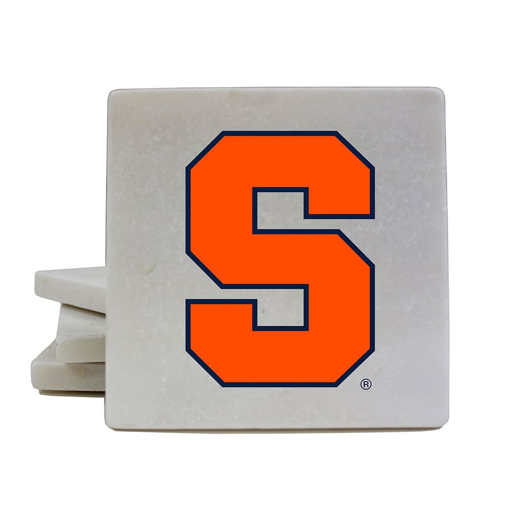 Syracuse Orange 4-Piece Marble Coaster Set