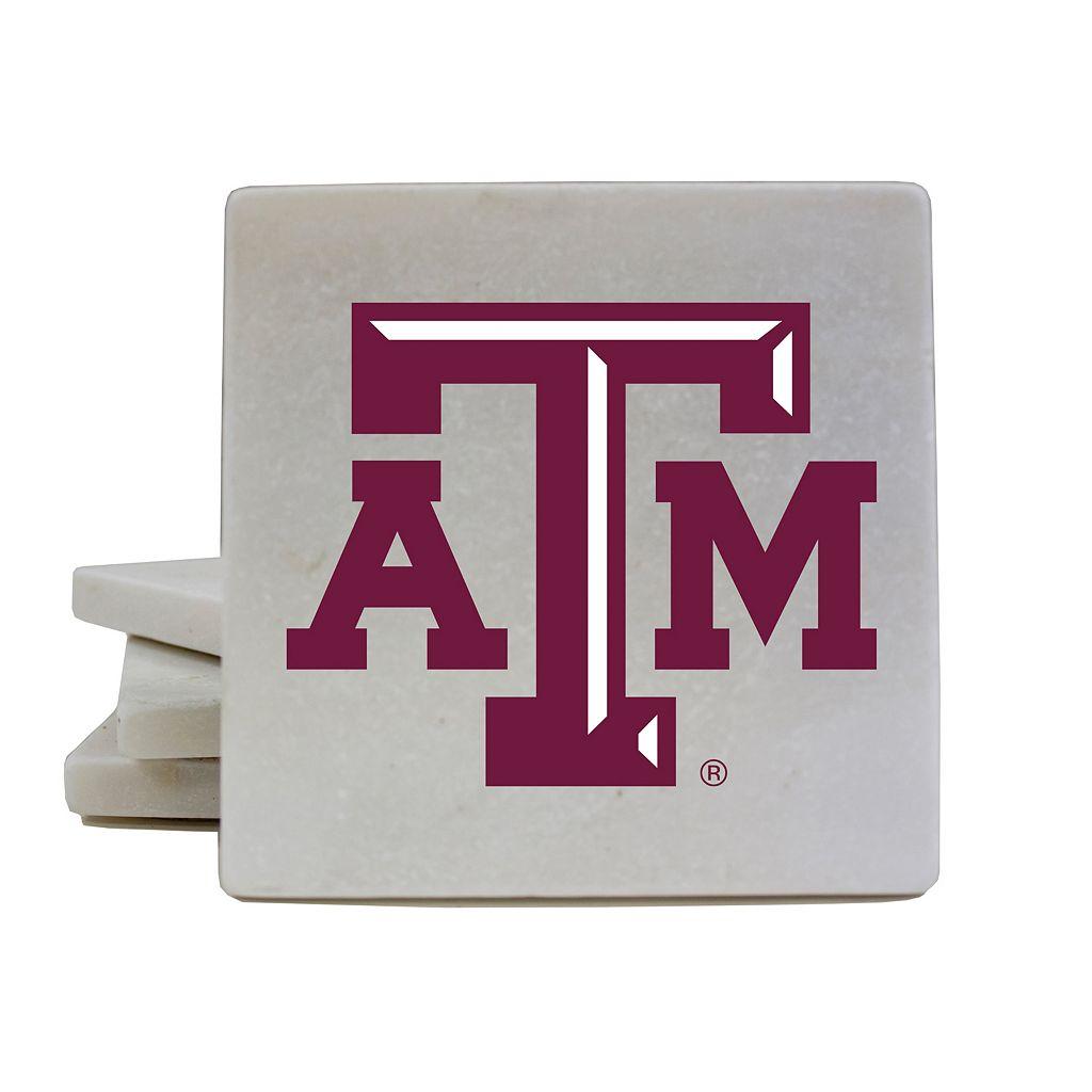 Texas A&M Aggies 4-Piece Marble Coaster Set