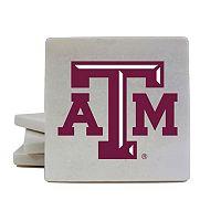 Texas A&M Aggies 4 pc Marble Coaster Set