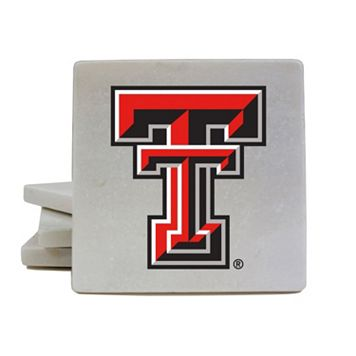 Texas Tech Red Raiders 4-Piece Marble Coaster Set