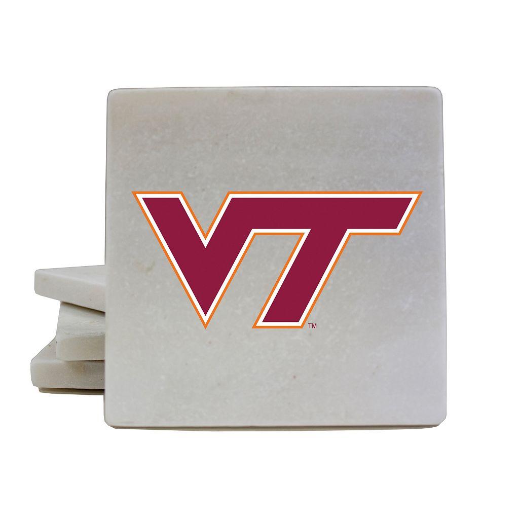 Virginia Tech Hokies 4-Piece Marble Coaster Set