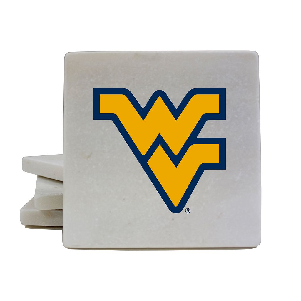 West Virginia Mountaineers 4-Piece Marble Coaster Set