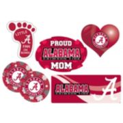 Alabama Crimson Tide Proud Mom 6-Piece Decal Set
