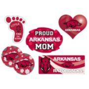 Arkansas Razorbacks Proud Mom 6-Piece Decal Set