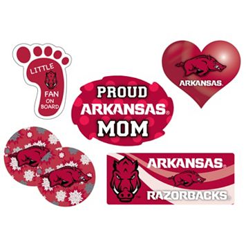 Arkansas Razorbacks Proud Mom 6-Piece Decal Set