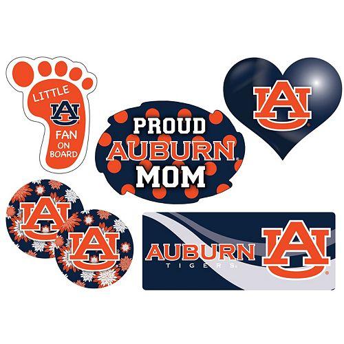 Auburn Tigers Proud Mom 6-Piece Decal Set