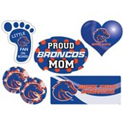 Boise State Broncos Proud Mom 6 pc Decal Set