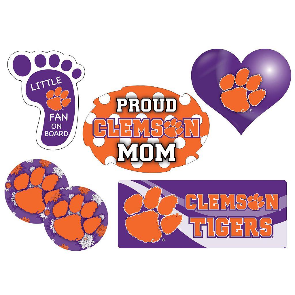 Clemson Tigers Proud Mom 6-Piece Decal Set