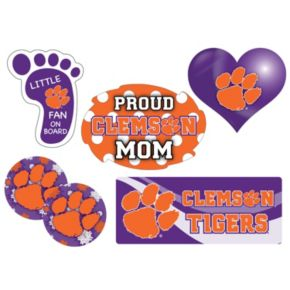 Clemson Tigers Proud Mom 6-Piece Decal Set
