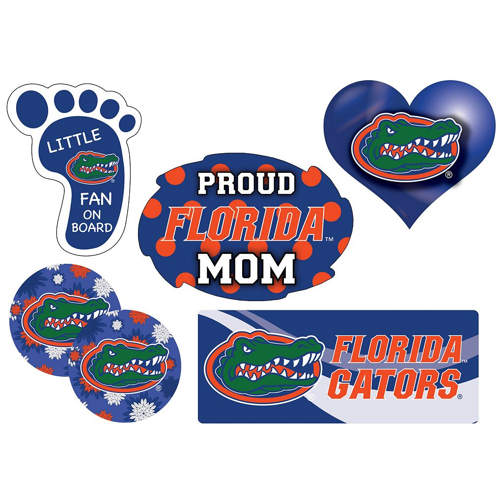 Florida Gators Proud Mom 6-Piece Decal Set