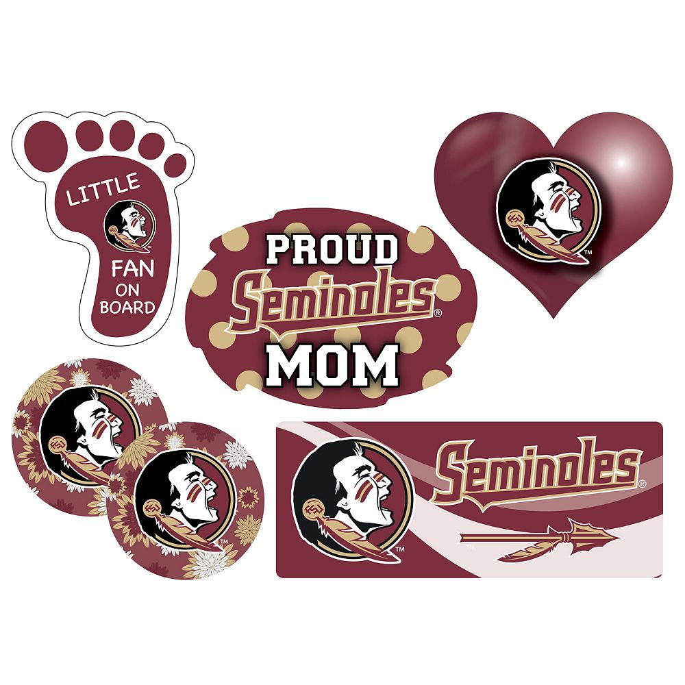 Florida State Seminoles Proud Mom 6-Piece Decal Set