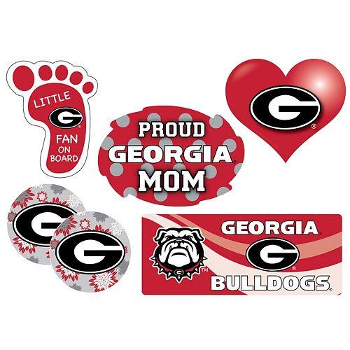Georgia Bulldogs Proud Mom 6-Piece Decal Set