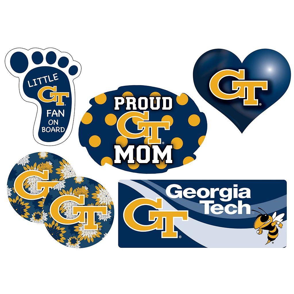 Georgia Tech Yellow Jackets Proud Mom 6-Piece Decal Set
