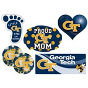 Georgia Tech Yellow Jackets Proud Mom 6 pc Decal Set
