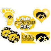 Iowa Hawkeyes Proud Mom 6 pc Decal Set