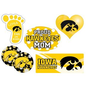 Iowa Hawkeyes Proud Mom 6-Piece Decal Set