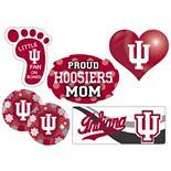 Indiana Hoosiers Proud Mom 6-Piece Decal Set