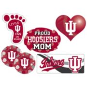 Indiana Hoosiers Proud Mom 6-Piece Decal Set