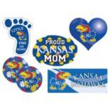Kansas Jayhawks Proud Mom 6-Piece Decal Set