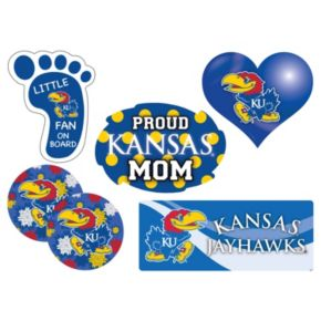 Kansas Jayhawks Proud Mom 6-Piece Decal Set