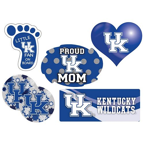 Kentucky Wildcats Proud Mom 6-Piece Decal Set