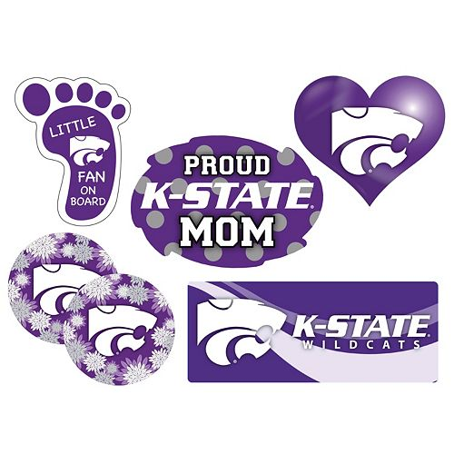 Kansas State Wildcats Proud Mom 6-Piece Decal Set
