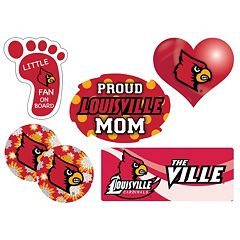 Louisville Cardinals Proud Mom 6 pc Decal Set